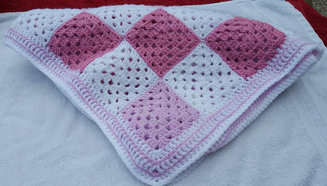 Pink & White Baby Blanket