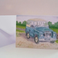 Greetings card A5 Land Rover Series III