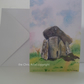 Greetings card Trethevy Quoit standing stones Cornwall from original watercolour