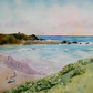 Summerleaze Beach Bude Cornwall original watercolour painting A3 size unmounted