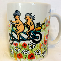 Funny cycling mug
