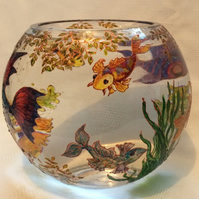 Fuss free fish bowl-to order