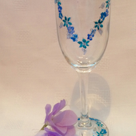 Forget-me-not champagne flute