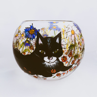 Glass Cat Bowl