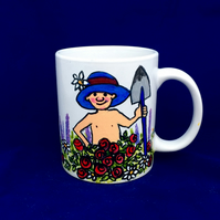 Funny Cartoon Mug For Gardener