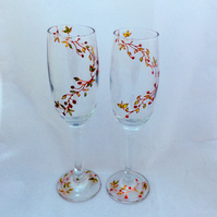 Winter champagne flutes