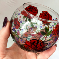 Rose Candle Bowl