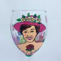 Customised Caricature Wine Glass to order