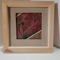 Wildflower tile in box frame