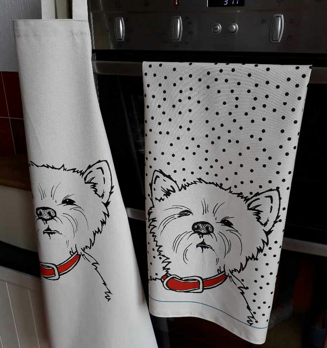 Westie Apron and Matching Tea Towel