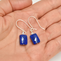 Lapis Lazuli and Moonstone Sterling Silver Earrings