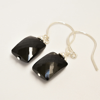 Black Spinel and Sterling Silver Earrings