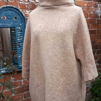 Boiled wool oversized  jumper size 14-16