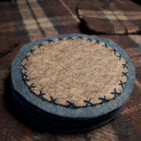 Nordic style felt coasters set of 4
