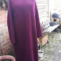 Boiled wool long jumper  dress size.3 uk 14-16