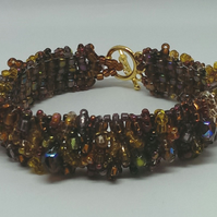 Shades of Brown beaded Bracelet