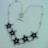 Purple stars necklace