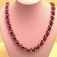 Shades of pink Spiral necklace