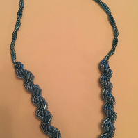 Aqua Shell design Necklace
