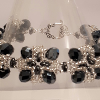 """Very Regal"" design bracelet  in Black & silver"