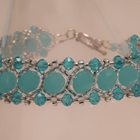 Pale turquoise Crystal bracelet