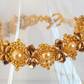 Gold and bronze beaded bracelet