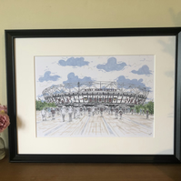 London Stadium - West Ham United - London -English Football - Football Art Print