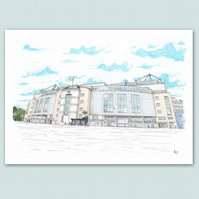 Stamford Bridge Stadium - Chelsea FC - London - Chelsea - Football Art - Print