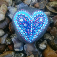 Dotty Heart Painted Rock