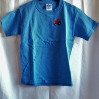 Blue tractor T-shirt age 5-6 years
