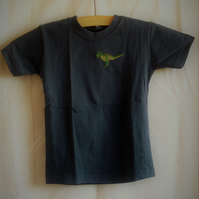 Navy T-rex T-shirt age 2-3 years
