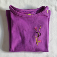 Purple Bee T-shirt Age 6-9 months