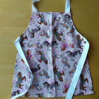Dream Horse Apron age 2-6 approximately