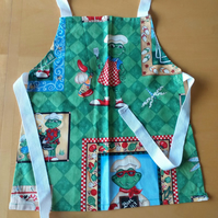 Frog Barbeque Apron age 2-6 approximately