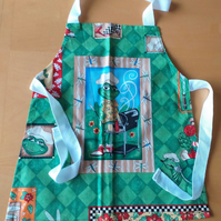 Barbeque Frog Apron age 2-6 approximately