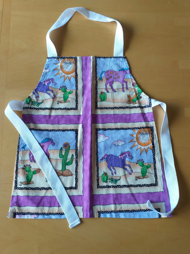 Painted Pony Apron age 2-6 approximately