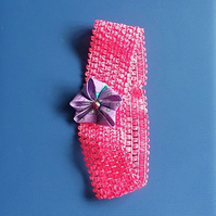 Bright Pink Kanzashi Headband