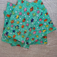 Pack of Four Fish Drawstring Bags