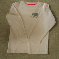 Elephant long-sleeve T-shirt age 7