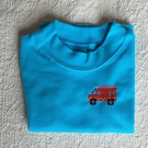 Fire Engine T-shirt Age 3-6 Months