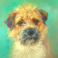 Greetings Card - Note Card - Border Terrier (with a little Lakeland)  - blank