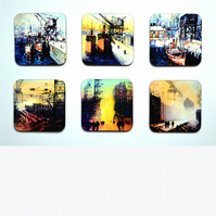 Four Piece Coaster set No.1 of Paintings by Martin Oates (free p.p. U.K.)