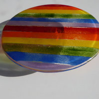 Stripy Rainbow Fused Glass Cakestand