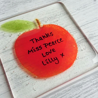 Thank YouTeachers Apple Coaster, Personalised with your message,