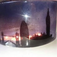 Fused Glass London Night scene Arch