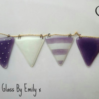 Fused Glass Coloured Bunting