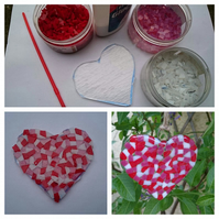 Fused Glass Heart Home Kit, suitable for all ages