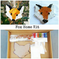 Fused Glass Fox Home Kit, suitable for all ages