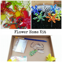 Fused Glass Flower Home Kit, suitable for all ages