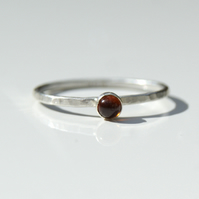 Stackable Garnet Ring, Sterling Silver Jewellery